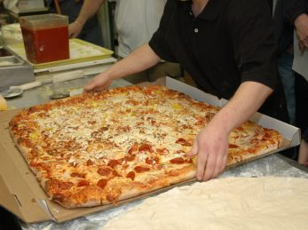 Largest Pepperoni and cheese piza
